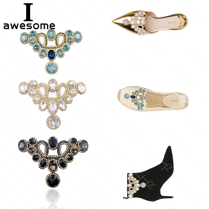 1pcs Bridal Wedding Party Shoes Accessories High Heels Shoes DIY Manual Rhinestone Flower Sandals Boots Shoe Decorations Patches