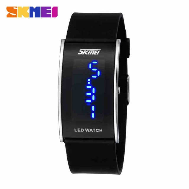 Fashion Unisex Digital Watch Skmei Brand 8 Colors LED Silicone Jelly Watch Women Display Silicone Watches Men Wristwatches