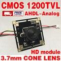 11.11 Большая Распродажа! HD Цвет 1/4 CMOS 1200TVL FH8510 + BY3006 ahdl 960 P ahdl Закончил Монитор модуль чип 3.7 мм острый конус объектива ircut
