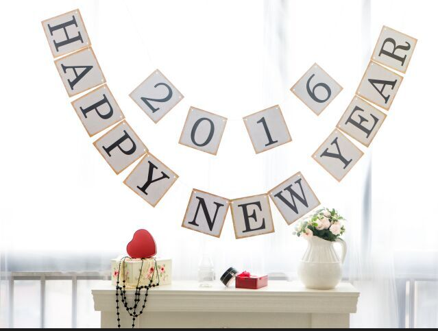 free shipping 1 x customized happy new year banner new year garland home party deco supplies in banners streamers confetti from home garden on