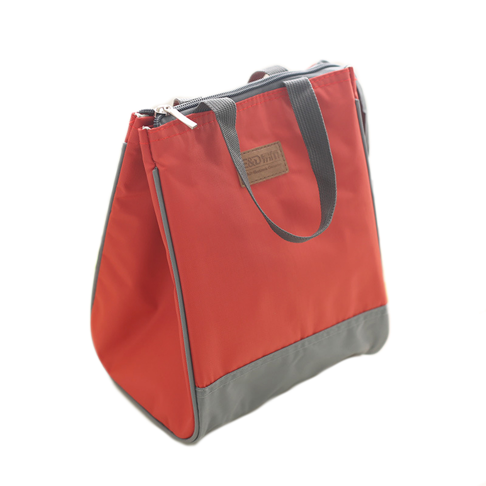 Red Blue Green Thermal Food Bags Girls Lunch Box For