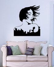 Wall vinyl sticker applique beautiful sexy woman movie star hair salon, home living room, girl room decoration wall NH16