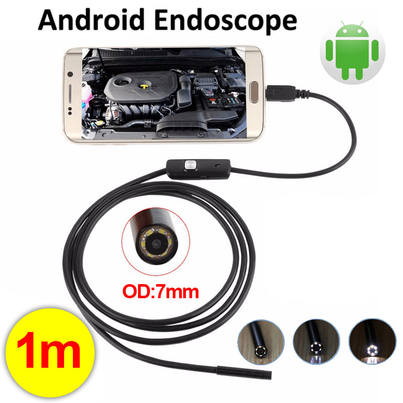 7mm Android USB Endoscope Car Borescope Usb Camera Tube Cable Pipe Waterproof Inspection Surveillance Pipe Mini Camera Wistino free shipping usb pipe inspection camera borescope endoscope tube snake waterproof with 7mm diameter 6led te e2a