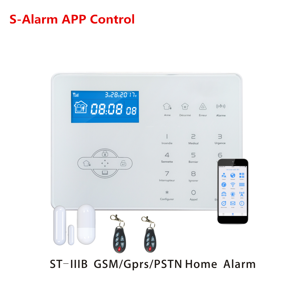 Focus ST-IIIB French Voice prompt Wireless Home GSM Alarm System Home guard safety Alarm System With WebIE PC Control