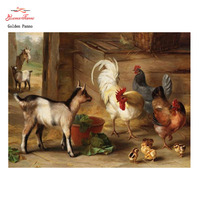 Cross Stitch Kit Home Decor goats Chickens Chicks Embroidery DIY DMC14CT Unprinted Calculated Cross Stitch Embroidery