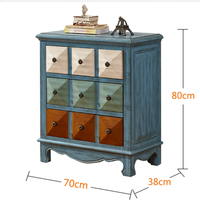 Американского производства старый груди тумба для спальни Гостиная хранения три груди Средиземноморский шкаф для хранения
