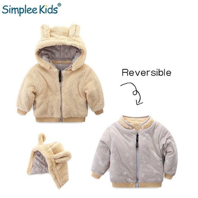 ea606b59e Simplee Kids Baby Girl Hooded Jackets Boys Fur Winter Coats Children ...