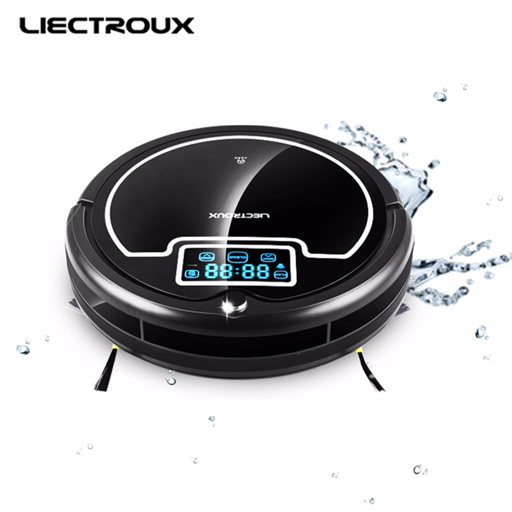 (Russia Warehouse)LIECTROUX B2005PLUS Robot Vacuum Cleaner,with Water Tank,Wet&Dry,TouchScreen,withTone,Schedule,Virtual Blocker russia warehouse seebest d720 momo 1 0 intelligent robot vacuum cleaner with big dry mopping time schedule auto recharge