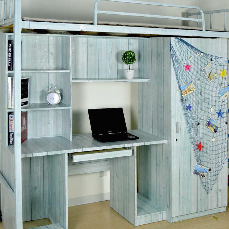 1 M/5 M/10 M Tahan Air Vinyl Biji-bijian Kayu Diri Perekat Wallpaper Dapur Lemari Kabinet Furniture Renovasi pintu Wall Stiker