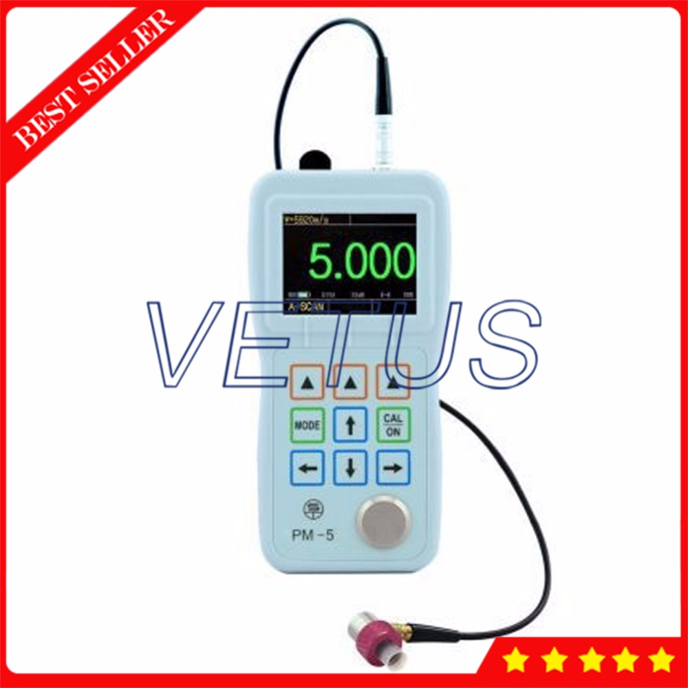 PM-5 Color A/B-Scan Through Paint Coating Ultrasonic Thickness Gauge with 0.001mm Resolution Unique Multiple-Wave Verify Mode ...