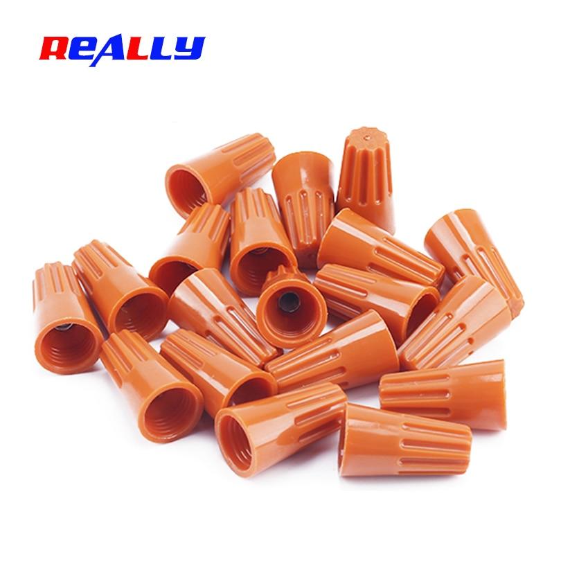 200 pcs Orange P1 Screw On Nuts Standard Type Twist On Barrel Wire Connectors