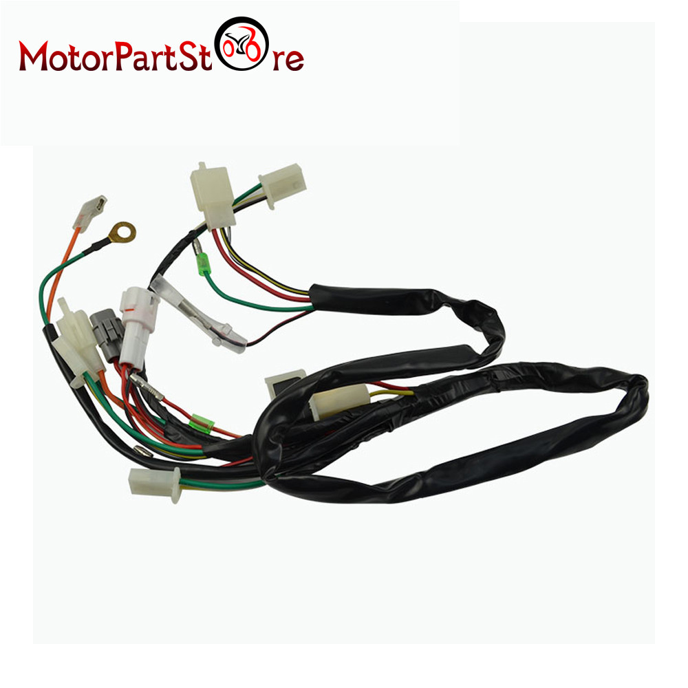 Electrical Main Wiring Harness Wire Loom Plus Connectors for Yamaha PW50 PW 50 2 stroke 50cc electrical main wiring harness wire loom plus connectors for pw50 wiring harness at fashall.co