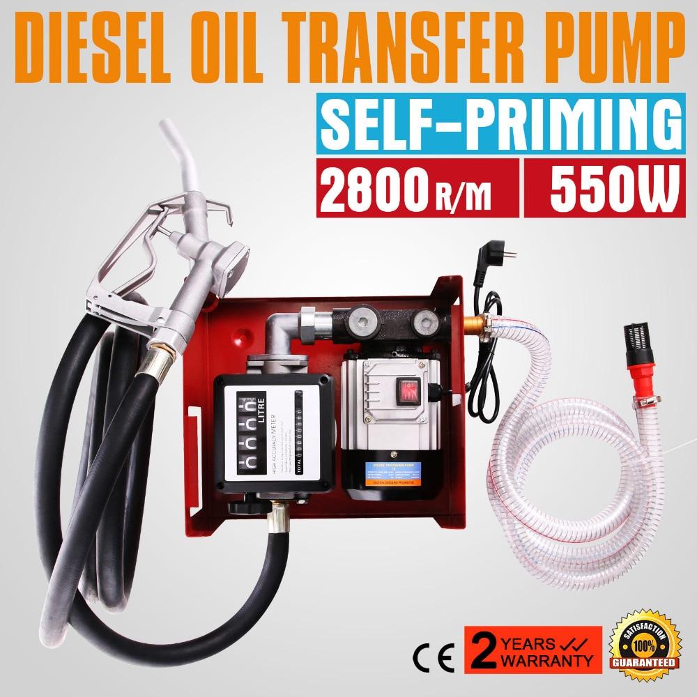 2 PCS  60L / Min 550w Fuel Pump Or Diesel Fuel Transfer Pump Electric Spray Gun