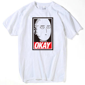 Summer Tops Oppai Short-Sleeve T-Shirt men Hero One-Punch man Fashion Women Cartoon