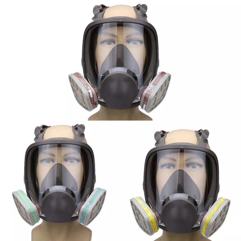 3 en 1 costume peinture pulvérisation similaire pour Silicone visage complet masque respiratoire réutilisable 6800 gaz masque de protection - 2