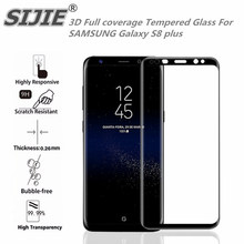 3D Full cover Tempered Glass For SAMSUNG Galaxy S8 plus Screen protective 6.2 inch Curved Round Edge smartphone toughened case