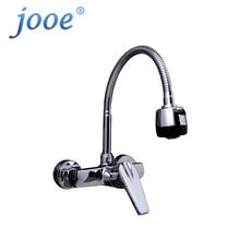 Jooe смеситель для кухни настенный кран горячей и холодной смеситель хром латунь одной ручкой крана вода torneira Cozinha Робине кухни
