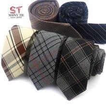 Стиль хлопок галстук 6 см полиэстер шеи галстуки для мужчин плед полосатый формальный свадебный вечерний деловой костюм тонкий Gravatas