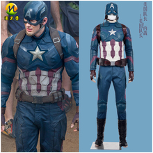 Hot Sale Movie Captain America Civil War Cosplay Costumes Adult Halloween Superhero Captain America Jacket Accept Customized
