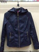 NXH 2018 Yeni Varış Kadın Deri ceketler Astar Kürk Kadın PU ceket Marka Ceket Dış Giyim Temel coat İlkbahar & Sonbahar sahte Leaher