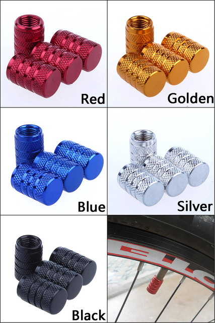 4Pcs Bike Wheel Tire Covered Car Motorcycle Truck universal Tube Tyre Bicycle AV SV American AIR Valve Cap Dustproof 10 colors 2
