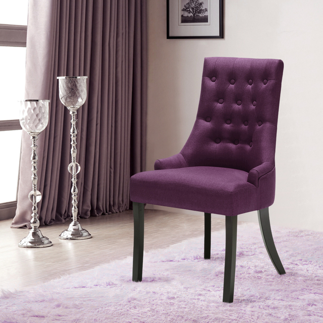 iKayaa US UK FR Stock Scoop Back Tufted Kitchen Dining Chair Linen Fabric  Padded Accent Chair - Aliexpress.com : Buy IKayaa US UK FR Stock Scoop Back Tufted