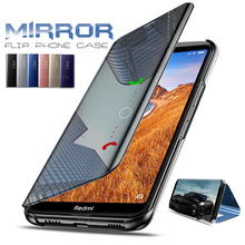 Clear View Smart Mirror Flip Case for Xiaomi Redmi 7A Cover Stand Case On The Xiomi Xaomi Xiami Kisomi Redmi7A A7 Coque Fundas