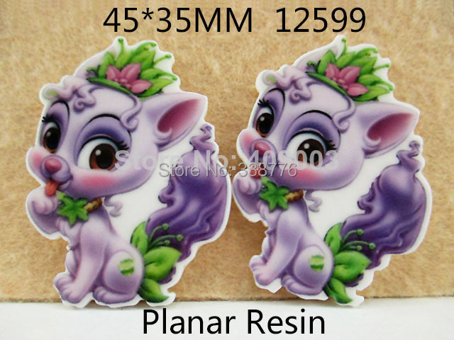 10Y12599 45*35mm cartoon horse flat back resin diy holiday decoration craft scrapbooking
