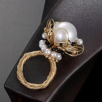 Natural Pearl Ring For Women Classic Fashion Jewelry New Style High Tech Material 14k Gold Wrapping