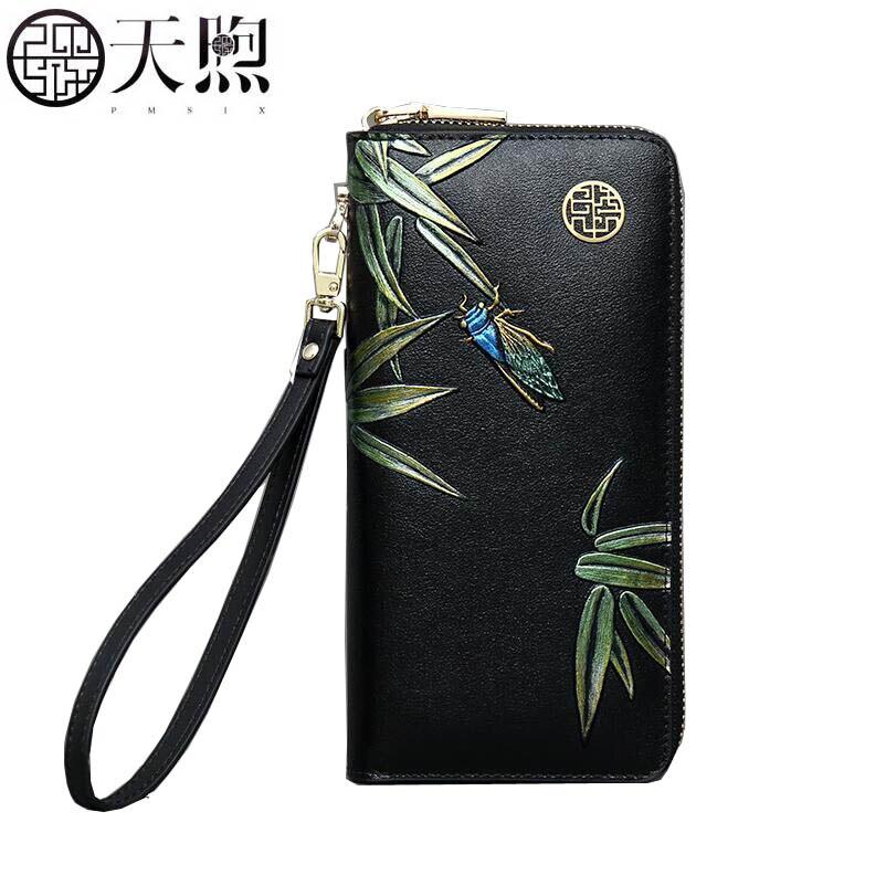 PMSIX 2019 nouveau sac en cuir pour femmes marques célèbres mode en relief fleur de luxe supérieure en cuir de vachette portefeuilles pochette pour femmes sac
