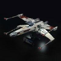 Luz led para lego 10240 x asa vermelho cinco estrelas guerra lutador compatível 05039 blocos de construção tijolos brinquedos