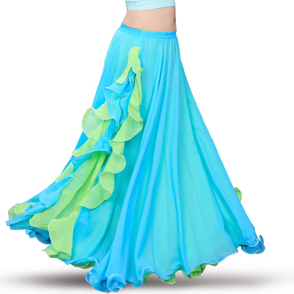 New Belly Dancing Clothes Professional Long Fish Tail Skirts Wrapped Skirt Women Belly Dance Skirts Without Belt B 6838