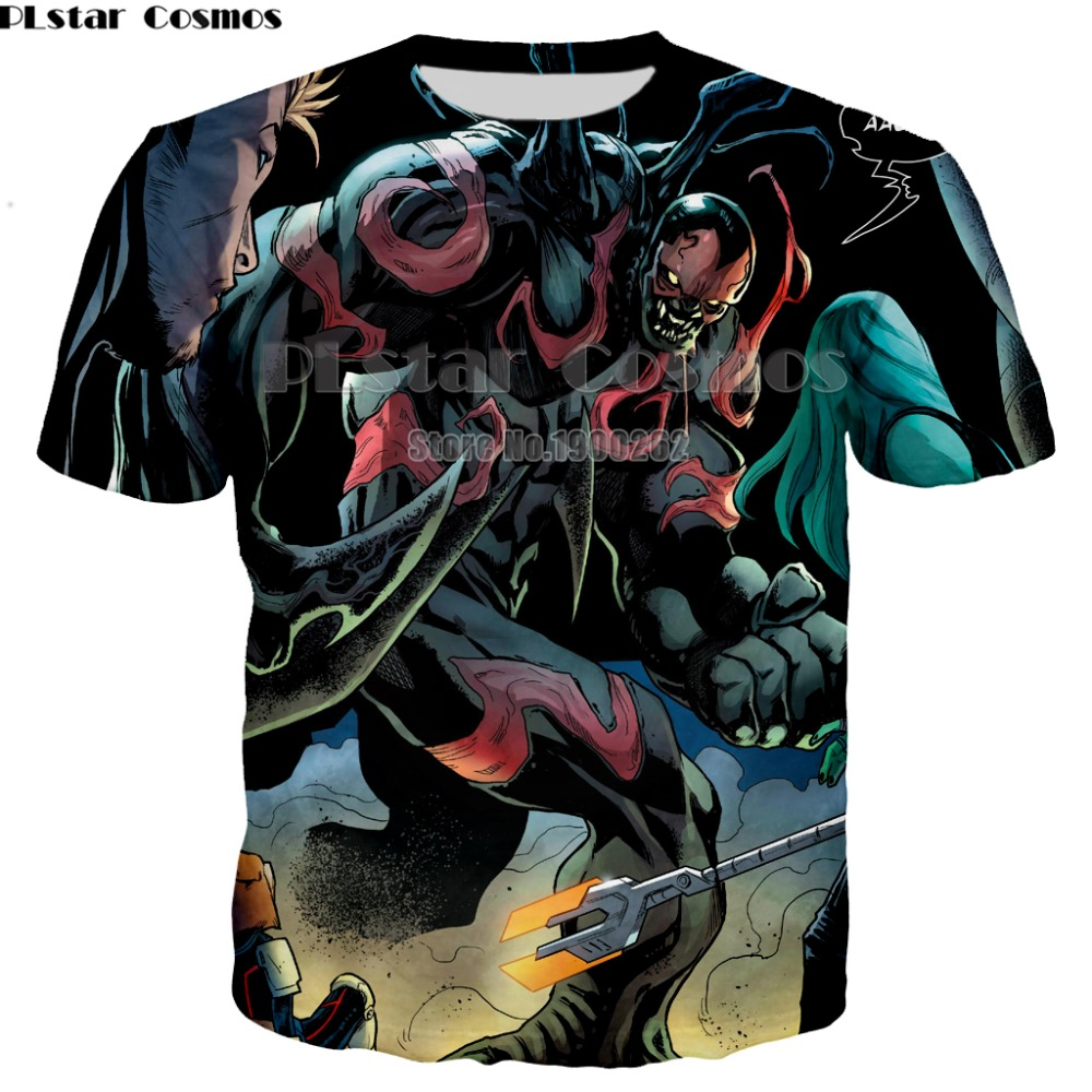 PLstar Cosmos Newest Marvel Movies Venom Spiderman T-shirt 3D print Shirt O-Neck Short Sleeve T Plus size XS-7XL dropship