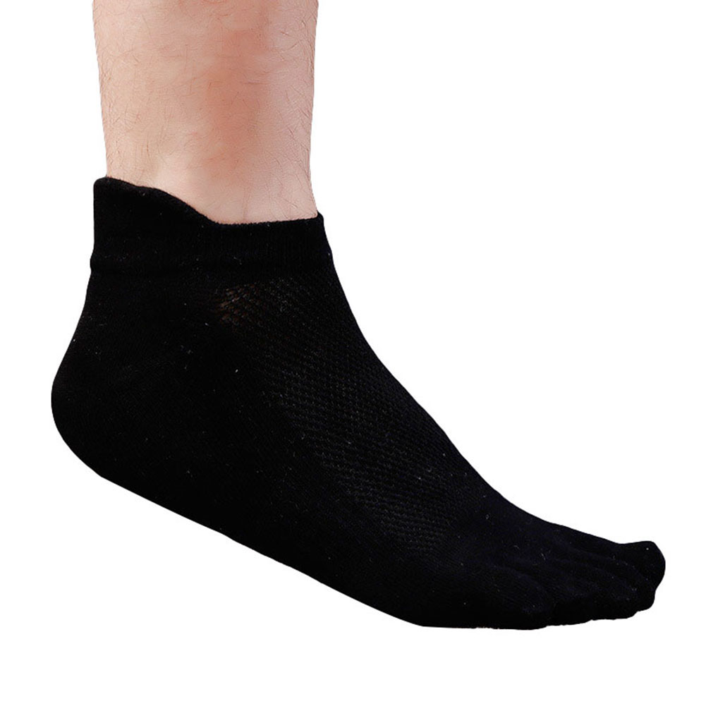 1Pair Fashion Summer Cotton Men's Five Finger   Socks   Toe   Socks   Invisible Nonslip Ankle Breathable Anti-skid Boat   Socks   Women