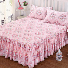Bedding Fitted Bed Sheet Pillowcase Flower Elastic Ruffled Bedspread Home Decorate Mattress Cover Bedclothes Bed skirt linens