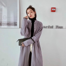 Woman Clothes Long Elegant Trench Coat Winter Vintage Cardigan Warm Streetwear Casual Slim Windcheaters For Women