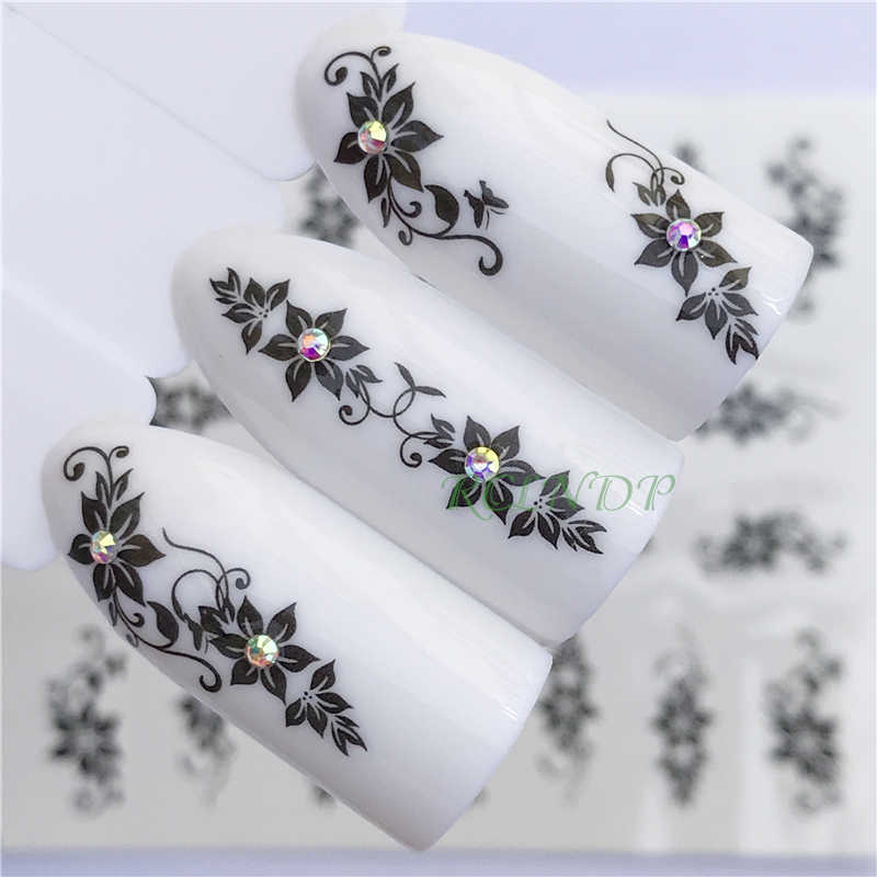 Nail sticker art decoration slider flower Mandala adhesive design Water Nails decal manicure lacquer accessoires polish foil