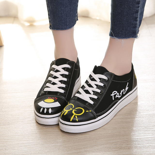 2018 New Pattern Ins Exceed Fire Real Woman Spring Canvas Shoe Joker Student Shoes. Restore Ancient Ways Port ShoesALEX 1
