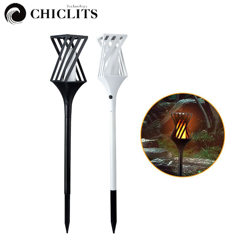 Chiclits Solar Torch Light 96 LED Waterproof Flame Lighting Landscape Lamp for Outdoor Garden Yard Lawn Driveway Decorative Lamp icoco 3 led solar powered spotlight outdoor garden ip44 landscape lawn yard path spot light decor auto on light lamp