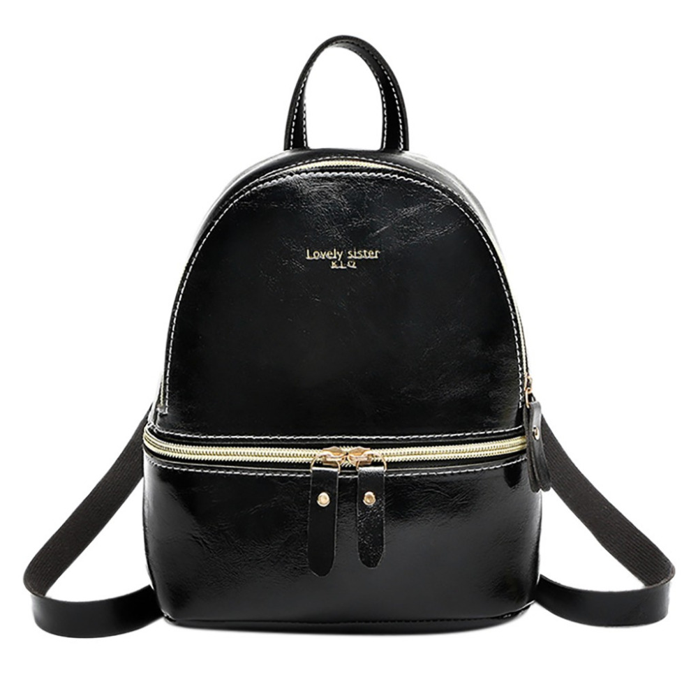 HTNBO Korean Style Solid Color Women's Backpack 2019 Mini Leather Casual Student Bag Solid Color Backpack Schoolbag For Girls