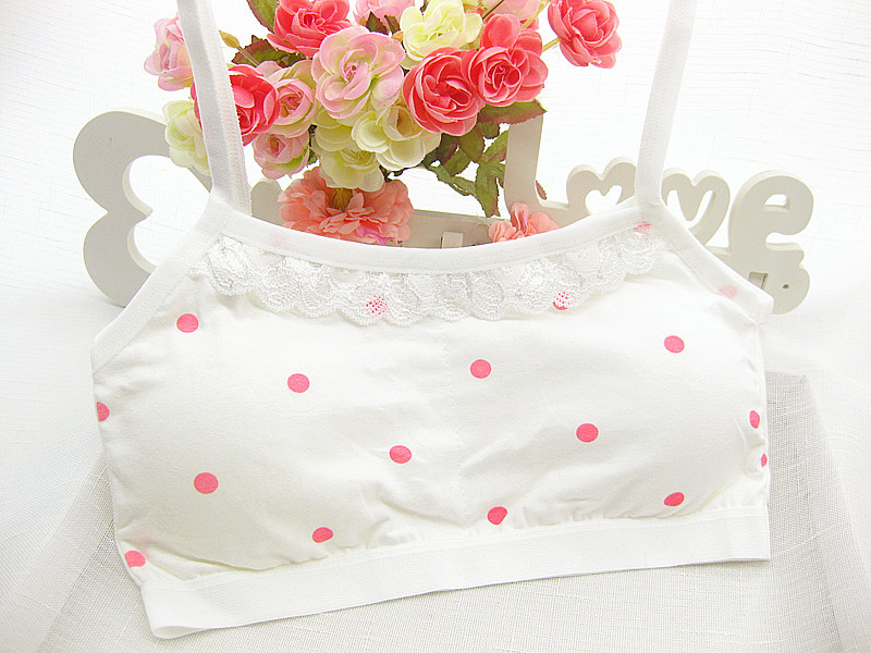 Cotton Young Girls Bra for Teens Children Underwear Teenage Girl Training Bra Lace Dot Child Bra Kids Girl Underclothes Clothing girls bra kids thin cotton teenage underwear small young girl training bra sports student wholesale children bra girls