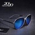 20/20 Marca de La Vendimia Mujeres Gafas de Sol Hombres Marco de la Aleación Unisex Eyewear de Los Vidrios de Conducción Gafas de Sol UV400 Oculos Gafas PC118