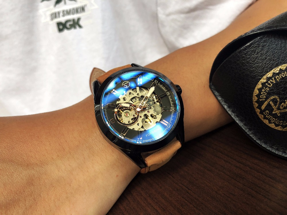 HTB1.qPRkEl7MKJjSZFDq6yOEpXaD Forsining 2017 Mens Casual Sport Watch Genuine Leather Top Brand Luxury Army Military Automatic Men's Wrist Watch Skeleton Clock