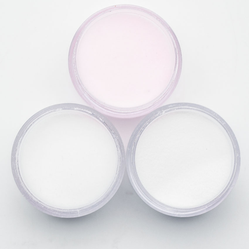 3 Colors Acrylic Powder For Nails Art Polymer Tips Builder Pink Clear White Acrylic For Nails Manicure Tips Tools SJF3001