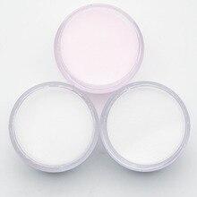 Polvo acrílico para esculpido de uñas, 3 colores, color rosa, transparente y blanco, para manicura