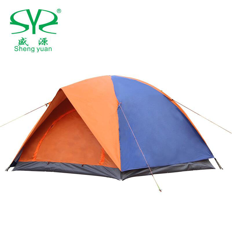 Tourist Tent 2 Person 3 Double Layer Double Door Hiking Folding Fishing Picnic Beach Camping Tents For Outdoor Recreation waterproof tourist tents 2 person outdoor camping equipment double layer dome aluminum pole camping tent with snow skirt