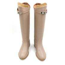 European and American fashion women's boots flat leather boots women Martin SUB663