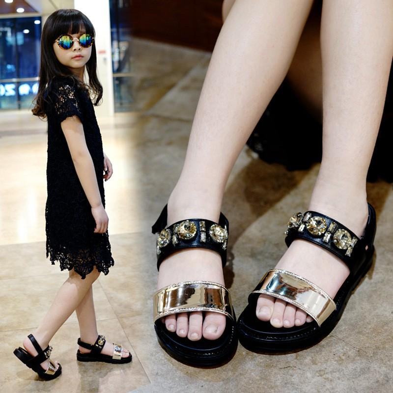 Girls Rhinestone Sandals (1)