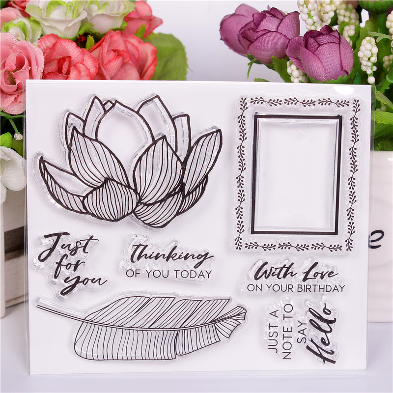Transparent Rubber Silicone Clear Stamps for Scrapbooking Tampons Seal Background Stamp manual Card Making Diy flower