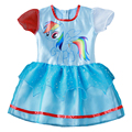 New hot sales o meu vestido da menina crianças vestido de menina dos desenhos animados little pony princesa traje do partido das crianças roupas de verão roupas